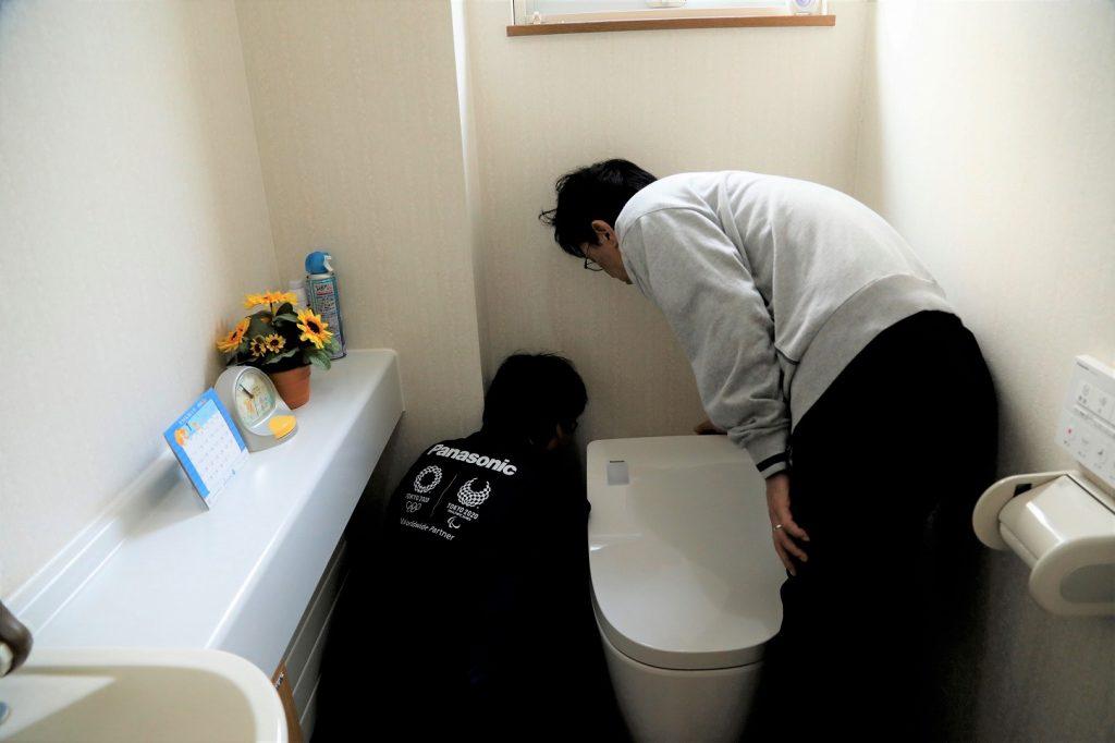 トイレのリフォームシーン